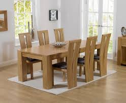 Charming Solid Oak Dining Tables And Chairs  On Dining Room - Oak dining room set