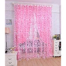 Pink Curtains For Girls Room Amazon Com Zwb Children Bedroom Sheer Curtains Star Pattren