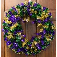 mardi gras wreaths 24 metallic mardi gras greenery wreath xx7164 mardigrasoutlet