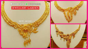 gold jewelry designs necklace images Modern designer necklace 2018 latest jewellery designs jpg
