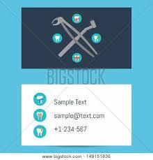 dentist business card template vector u0026 photo bigstock