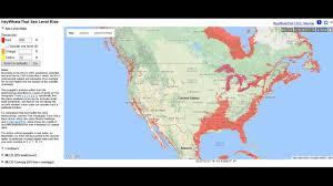 Florida Sea Level Rise Map by Sea Level Rise Youtube