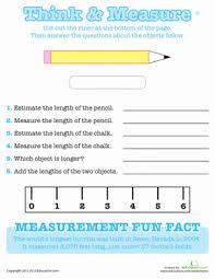 using a ruler worksheets second grade and measurement worksheets