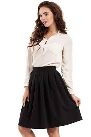 knee length skirt pleated knee length skirt