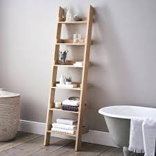 Bathroom Ladder Shelves Bathroom Ladder Storage Walnut Wooden Ladder Shelf Bookcase