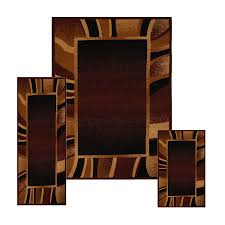 Contemporary Bathroom Rugs Sets 3 Pc Set Modern Contemporary Geometric Area Rug Runner Accent Mat