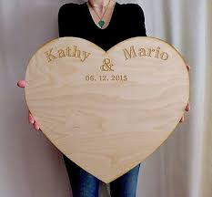 large wedding guest book wedding guestbook alternative personalized large wood custom