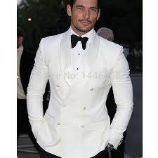 wedding suits 2017 summer style custom made white blazer breasted