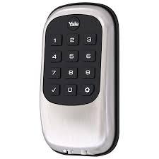 home designer pro hardware lock yale key free b1l lock push button deadbolt satin nickel