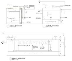 Reception Desk Plan Reception Desk Dimensions Pinterest Reception Desks