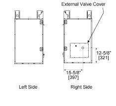 Gas Fireplace Valve Cover by Dakota Outdoor Gas Fireplace Heat U0026 Glo