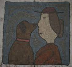 Rug Hooking Daily Fat Dog Rug Hooking Daily Design And Make A Hooked Rug Bucket