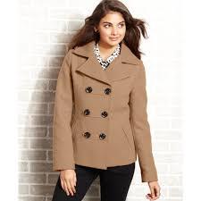 american rag hooded pea coat in natural lyst
