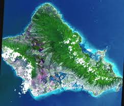 Hawaii On The Map Space Images Oahu Hawaii