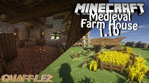 minecraft tutorial small simple medieval farm house cottage