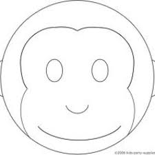 image gallery monkey face template