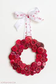 craft crochet create button wreath christmas buttons and diy
