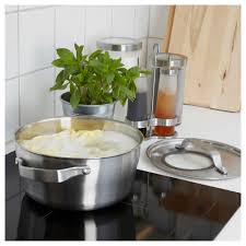 sensuell pot with lid stainless steel grey 4 l ikea
