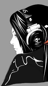 minimal skull headphones music hd wallpaper 7922