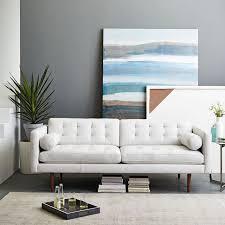 White Sofa Bed Mid Century Leather Sofa 80 West Elm