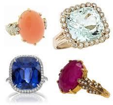 gemstone wedding rings engagement rings