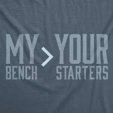 Bench Mens T Shirts Rotowear My Bench U003e Your Starters Men U0027s T Shirt