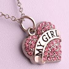 girl heart necklace images Hot selling my girl heart necklace for girlfriend in pendant jpg