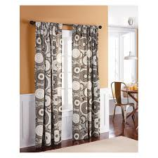 Brown Curtains Target Decoration Awesome Target Curtain Panels With Redoubtable Pattern