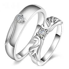 Couple Wedding Rings online get cheap silver wedding couple rings aliexpress com