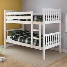 K Mart Bunk Beds Corliving Monterey White Painted Solid Wood Single Bunk Bed