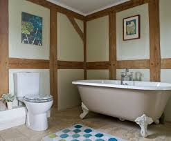 border oak traditional exposed oak framing in the bathroom
