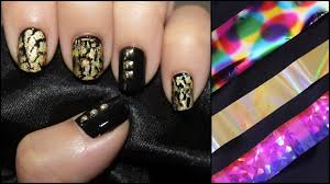 how to apply nail art foil youtube