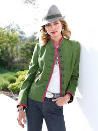 münchner manufaktur country style jacket with a raised collar