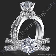 amazing engagement rings embracing v scarf split shank diamond engagement ring bbr438