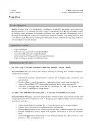 Resume Sample With Objectives by Web Designer Resume Sample 22 Web Resume Examples A4 Cv Photoshop