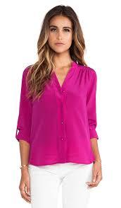 dvf blouse diane furstenberg harlow blouse in lotus berry revolve