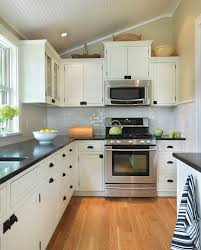 White Kitchen Cabinets Black Countertops by Sparkle Black Countertop Kitchen Transitional With White Shaker