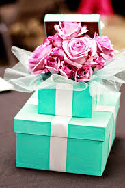 Tiffany And Co Gift Wrapping - lailyn u0026 co tiffany themed baby shower centerpiece tiffany blue