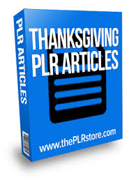 thanksgiving plr articles with label rights