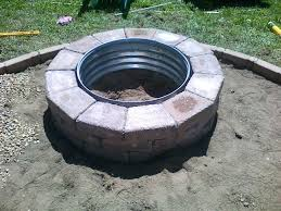 Building A Firepit Patio Ideas Building A Gas Pit Ring Diy Square Outdoor