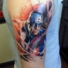 70 captain america tattoo designs for men superhero ink ideas