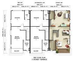 3 floor house plans impressive inspiration 3 floor plans terraced house house plans
