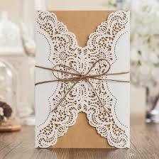 Personal Wedding Invitation Cards Edding Invitations Cards Personalized Rustic Retro Lace Style