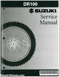 1983 1990 suzuki dr100 sp100 motorcycle service manual