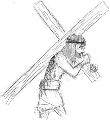 christ carrying the cross tattoo