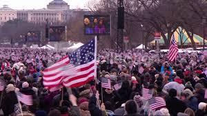 Waving American Flag Inauguration Crowd Waving American Flags Youtube