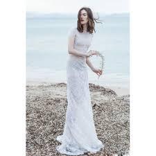 sheath wedding dress bonny neck cap sleeve floor length lace sheath wedding dress