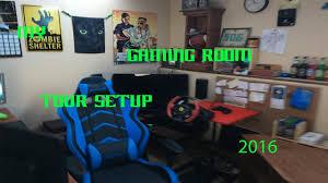 my gaming room tour setup 2016 youtube