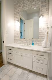 Subway Tile Bathroom Bathroom Best White Subway Tile Vanity With Large Idea 8