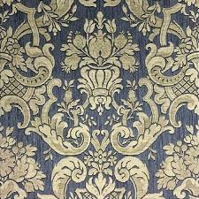 classic damask wallpaper charcoal gold m95551 from henderson